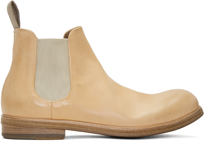 Marsell Beige Zucca Media Chelsea Boots