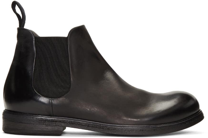 Marsell Black Zucca Media Boots