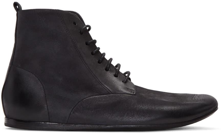 Marsell Black Strappiatam Boots