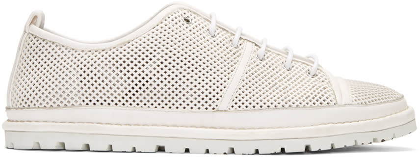 Marsell White Perforated Ricicarro Sneakers