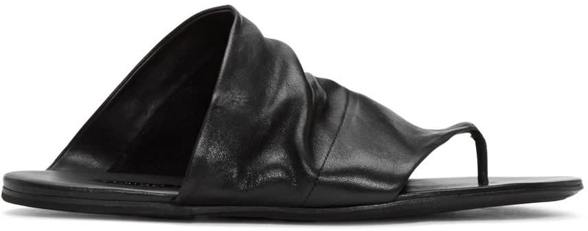 Marsèll Black Leather Arsella Sandals