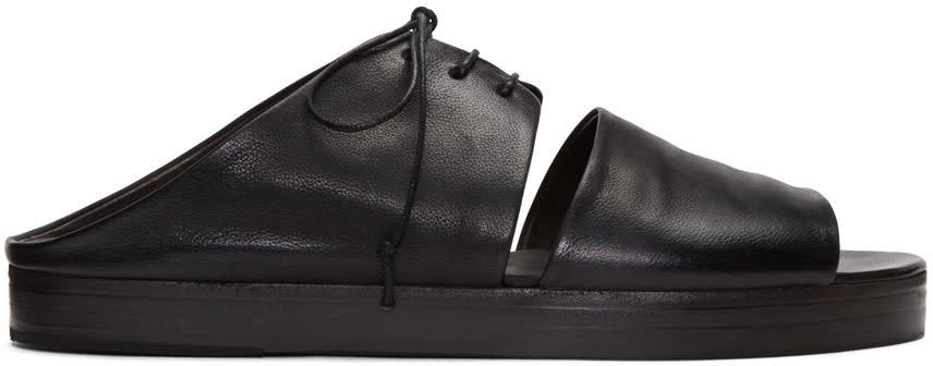 Marsell Black Gradone Sandals