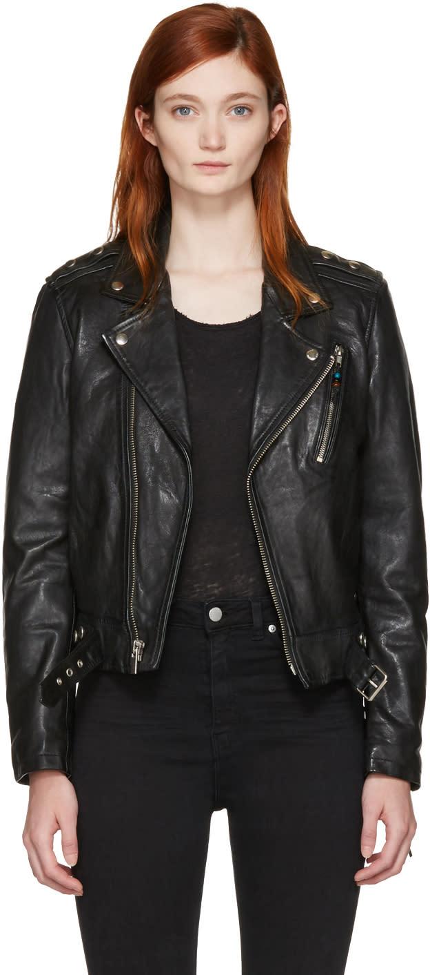 Image of Blk Dnm Black Classic 1 Biker Jacket