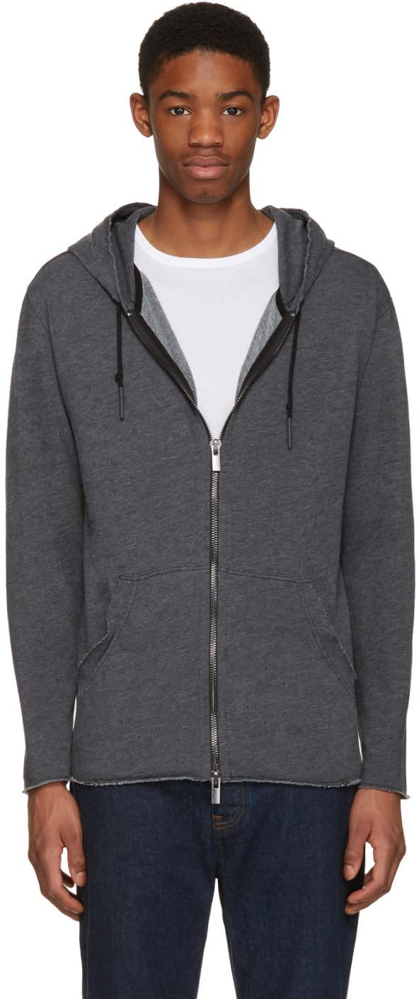 Blk Dnm Grey 78 Zip Hoodie