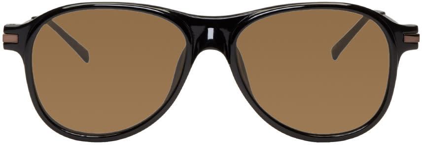 Dries Van Noten Black Flat Top Sunglasses