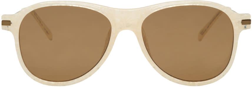 Dries Van Noten Ivory Aviator Sunglasses