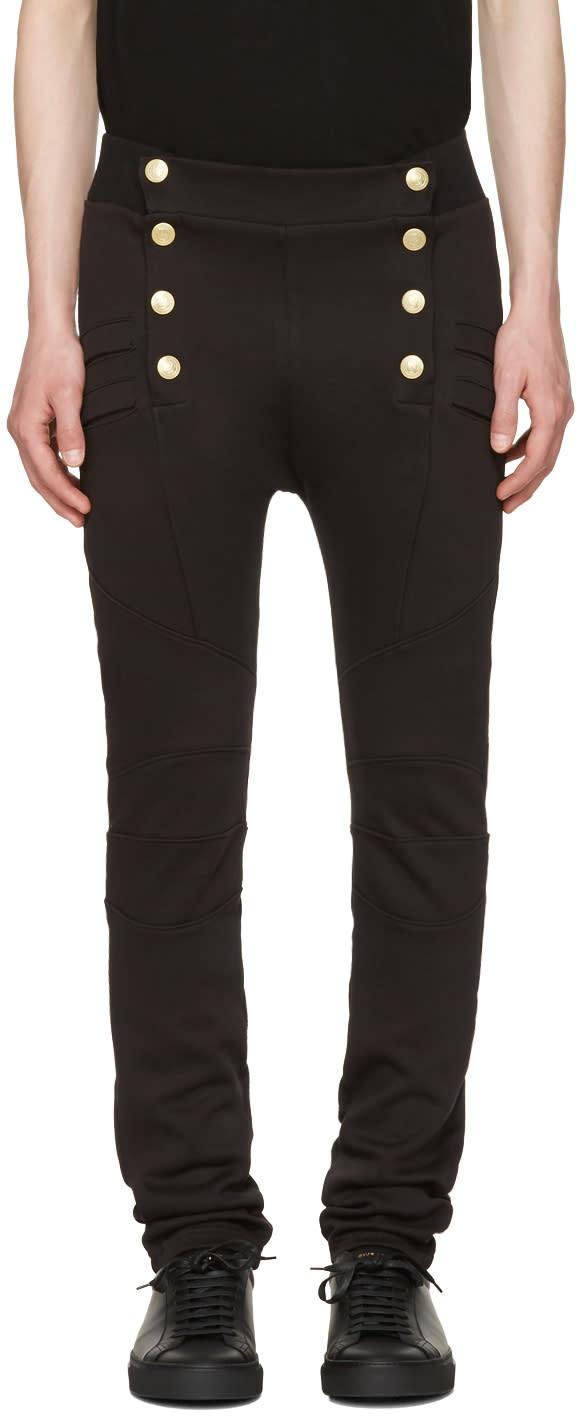 Image of Pierre Balmain Black Buttoned Lounge Pants