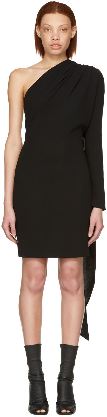 Gareth Pugh Black Scarf Single-sleeve Dress