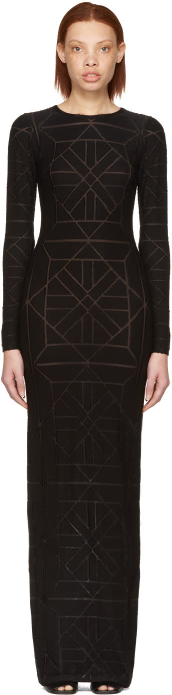 Gareth Pugh Black Long Tile Dress
