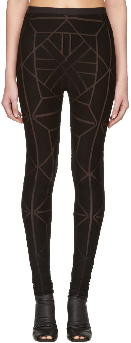 Gareth Pugh Black Tile Leggings