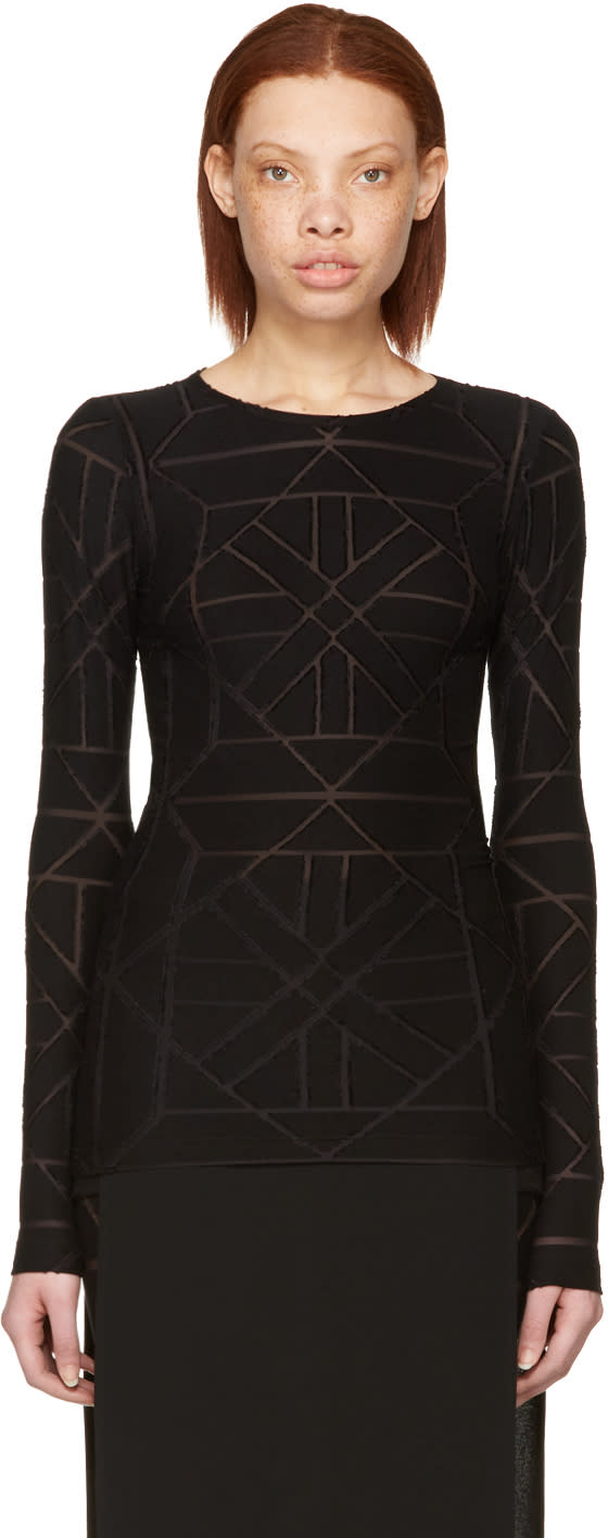 Gareth Pugh Black Tile T-shirt