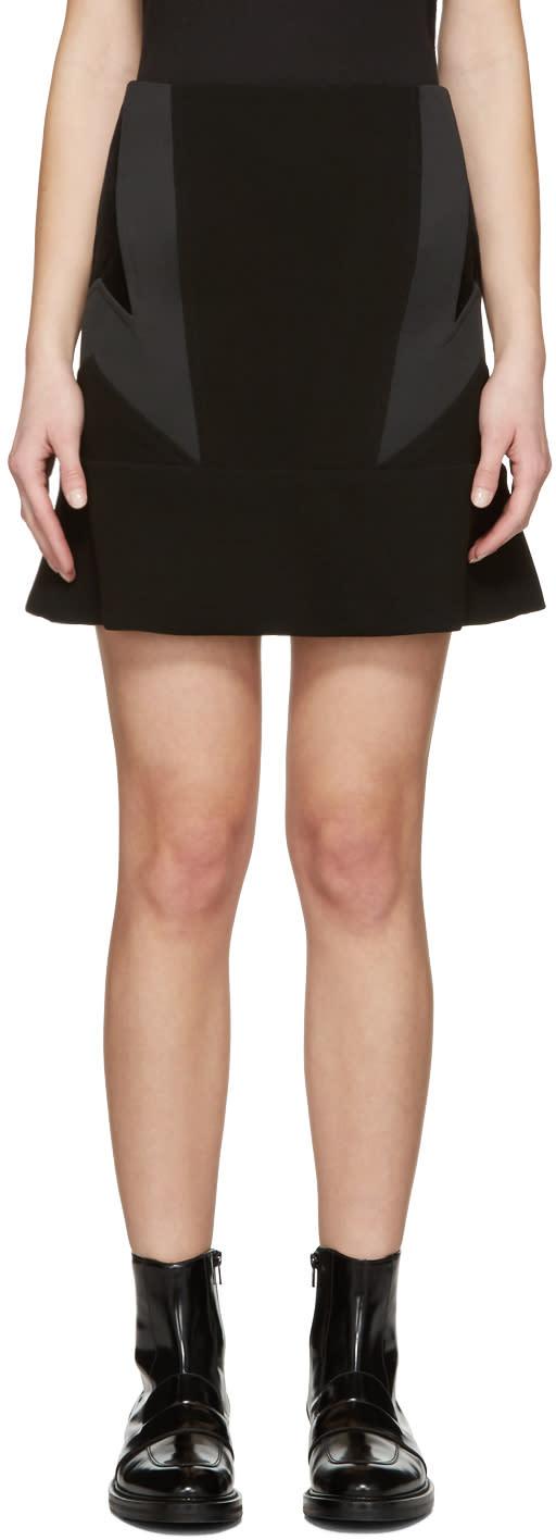 Neil Barrett Black New Modernist Miniskirt
