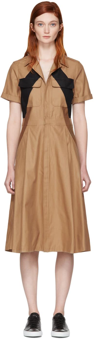 Neil Barrett Tricolor Modernist Dress