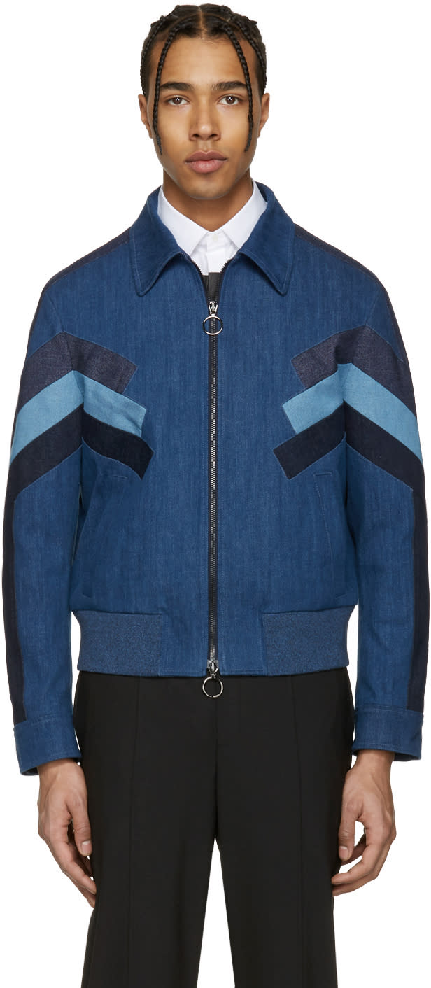 Neil Barrett Indigo Denim Modernist Jacket