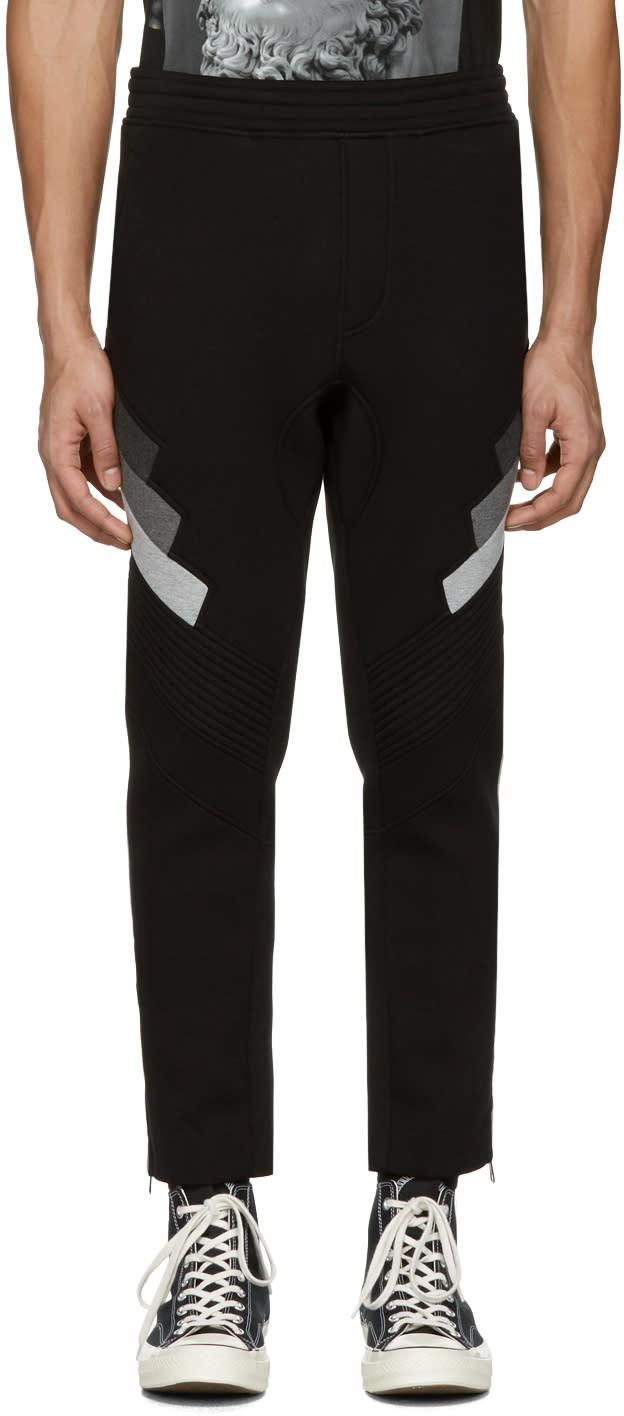 Neil Barrett Black Biker Lounge Pants