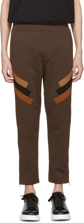 Neil Barrett Tricolor Panelled Modernist Lounge Pants