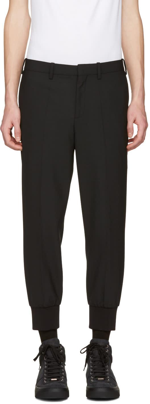 Neil Barrett Black Cuff Detail Trousers