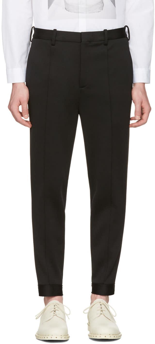 Neil Barrett Black Double Bonded Tech Trousers