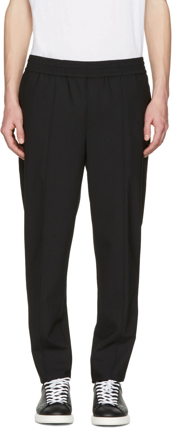 Neil Barrett Black Stretch Gabardine Trousers