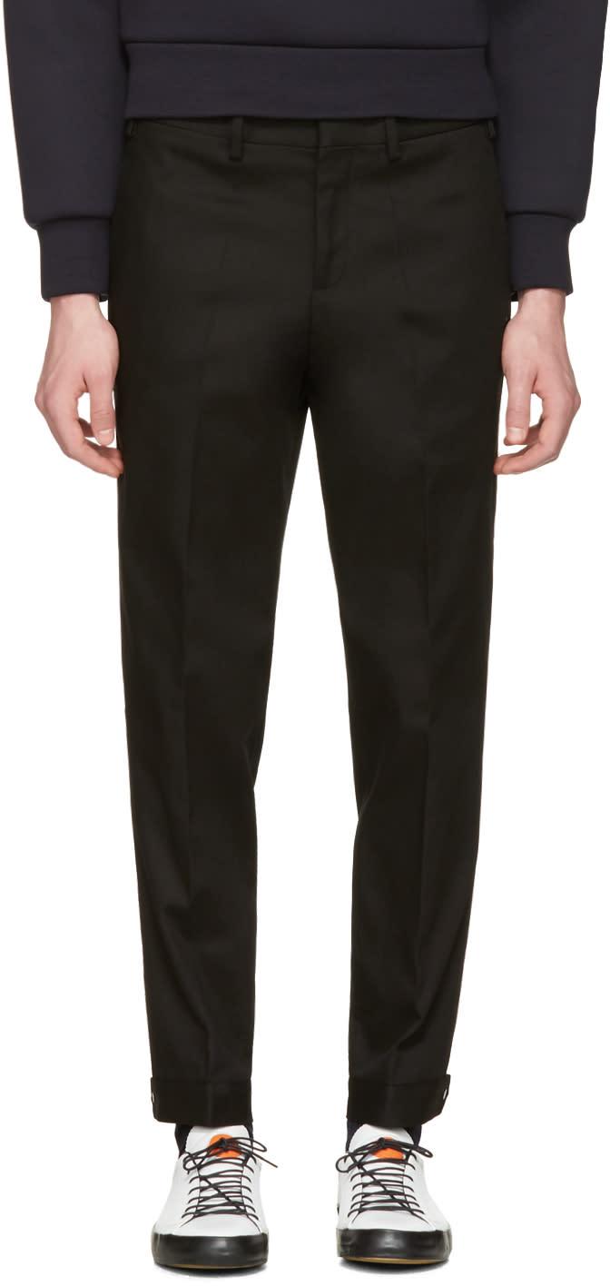 Neil Barrett Black Snap Cuff Trousers