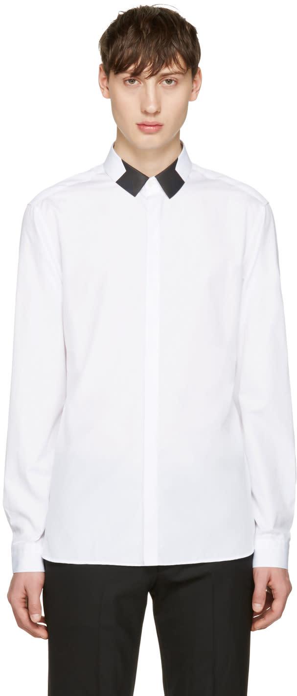 Neil Barrett White Star Collar Shirt