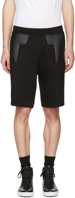 Neil Barrett Black Star Shorts