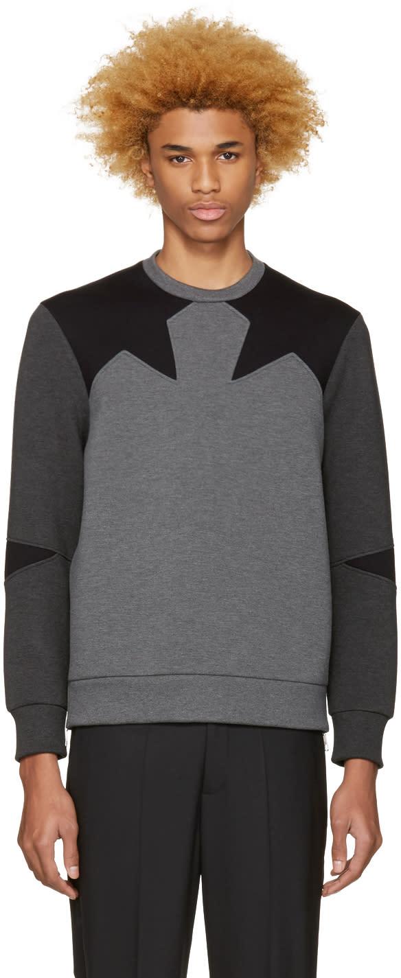 Neil Barrett Grey Star Pullover