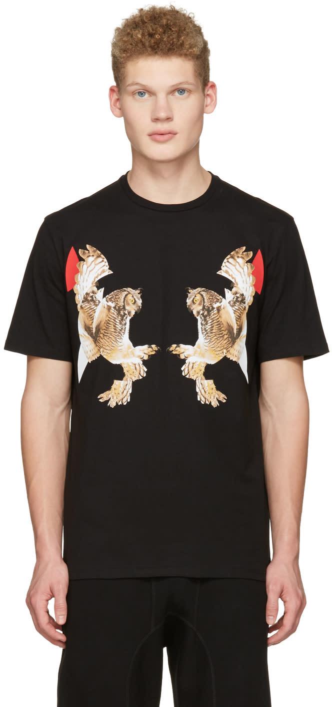 Neil Barrett Black Two Owl T-shirt