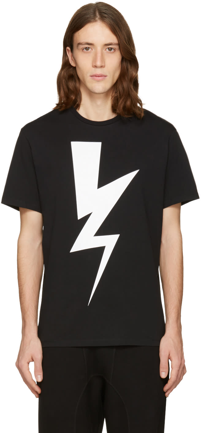 Neil Barrett Black One Thunder T-shirt