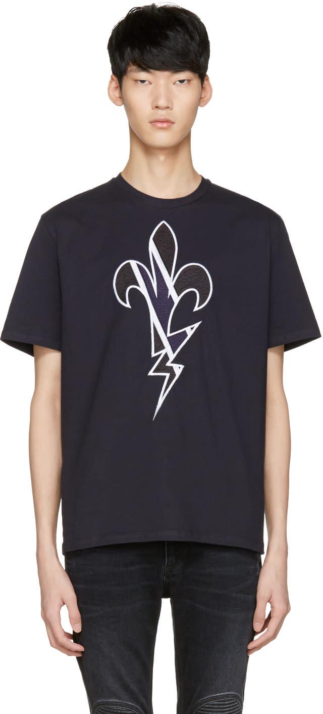 Neil Barrett Navy Fleur De Thunder T-shirt