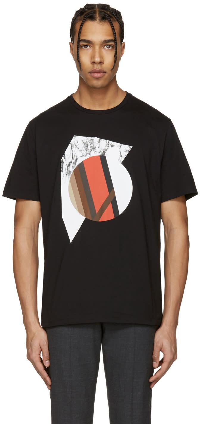 Neil Barrett Black Marble Modernist T-shirt