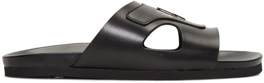 Neil Barrett Black Thundebolt Sandals
