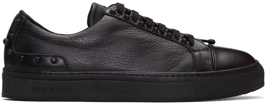 Neil Barrett Black Studded City Sneakers