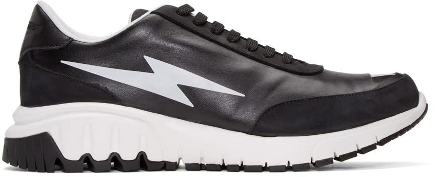 Neil Barrett Black Thunderbolt Sneakers