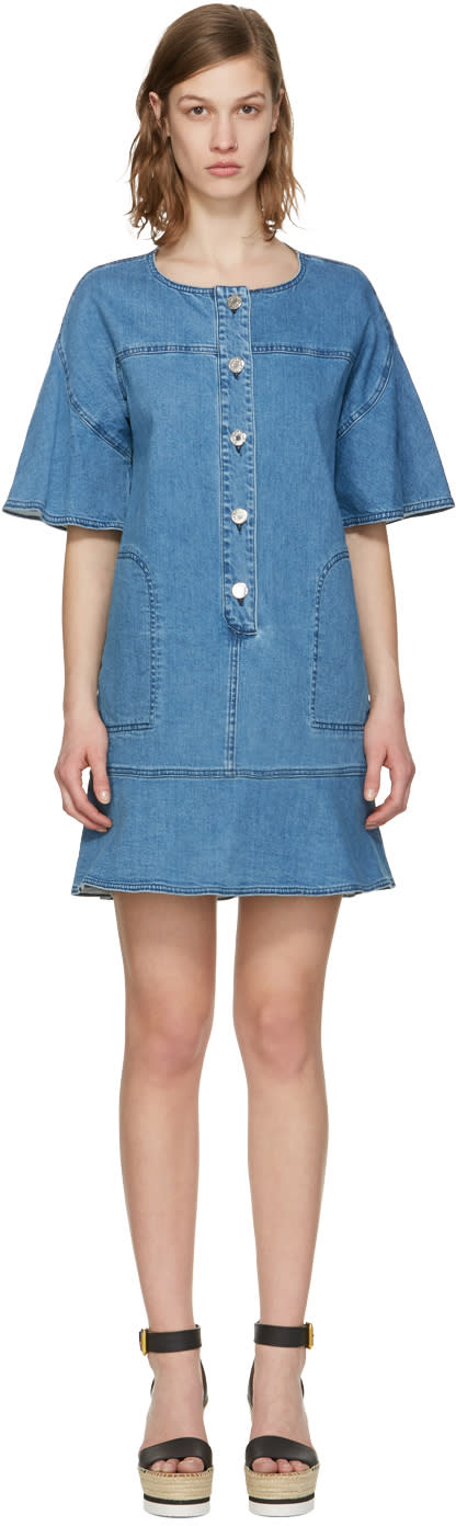 See By Chloe Indigo Denim Dress