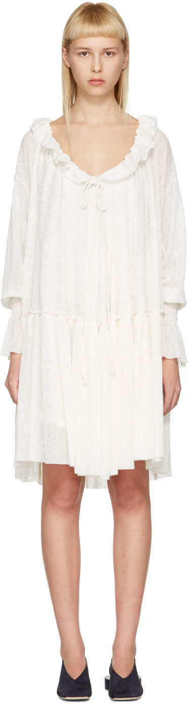 See By Chloe Off-white Gauze Jersey Dress