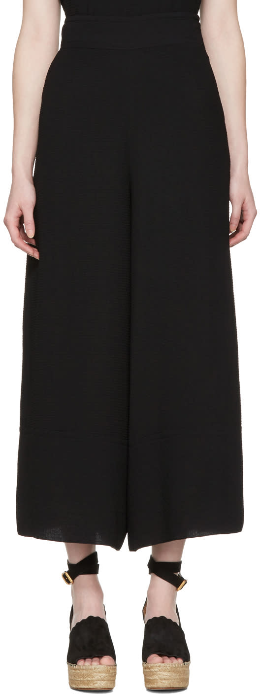 See By Chloe Black Wide Trousers