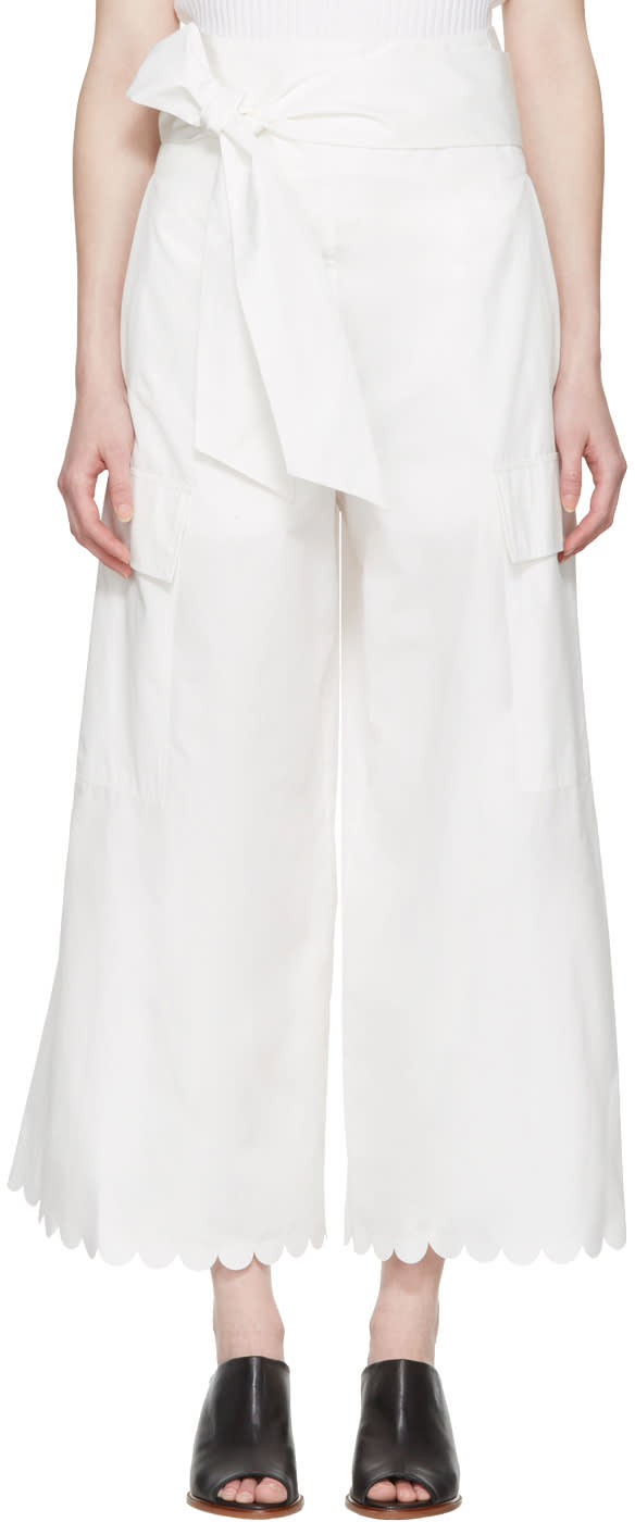 See By Chloe White Belted Culottes