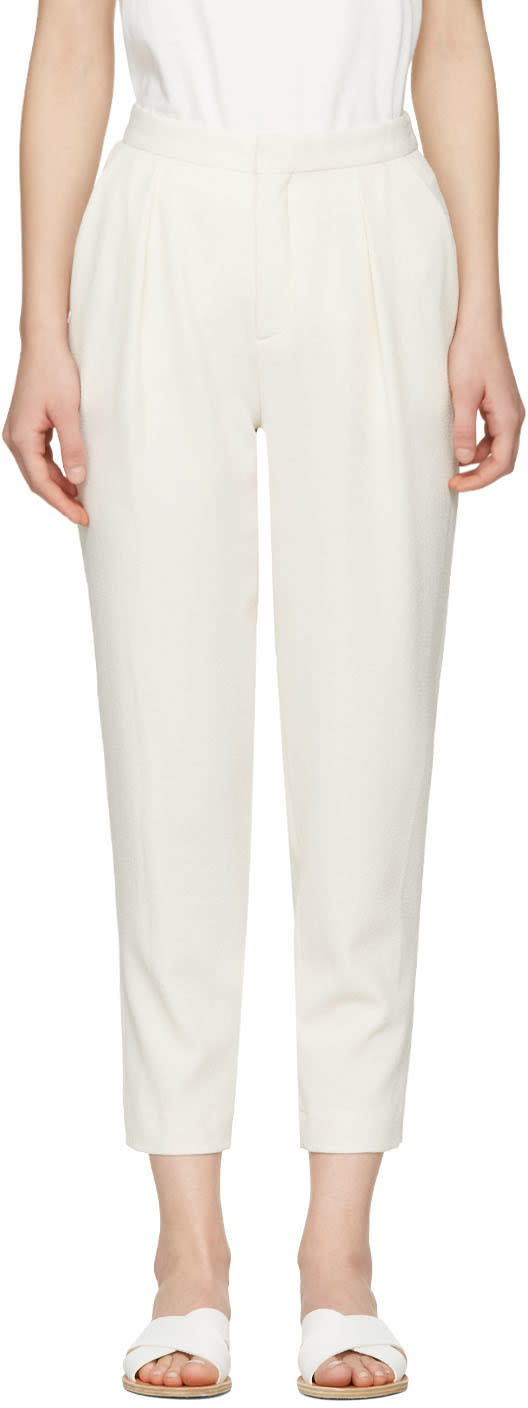 See By Chloe White Tapered Trousers