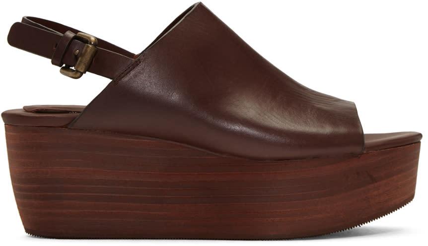 See By Chloe Brown Romy Platform Sandals