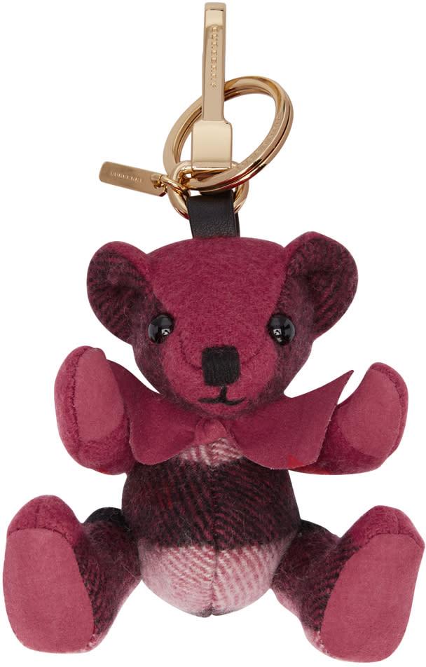 Burberry Pink Check Thomas Keychain