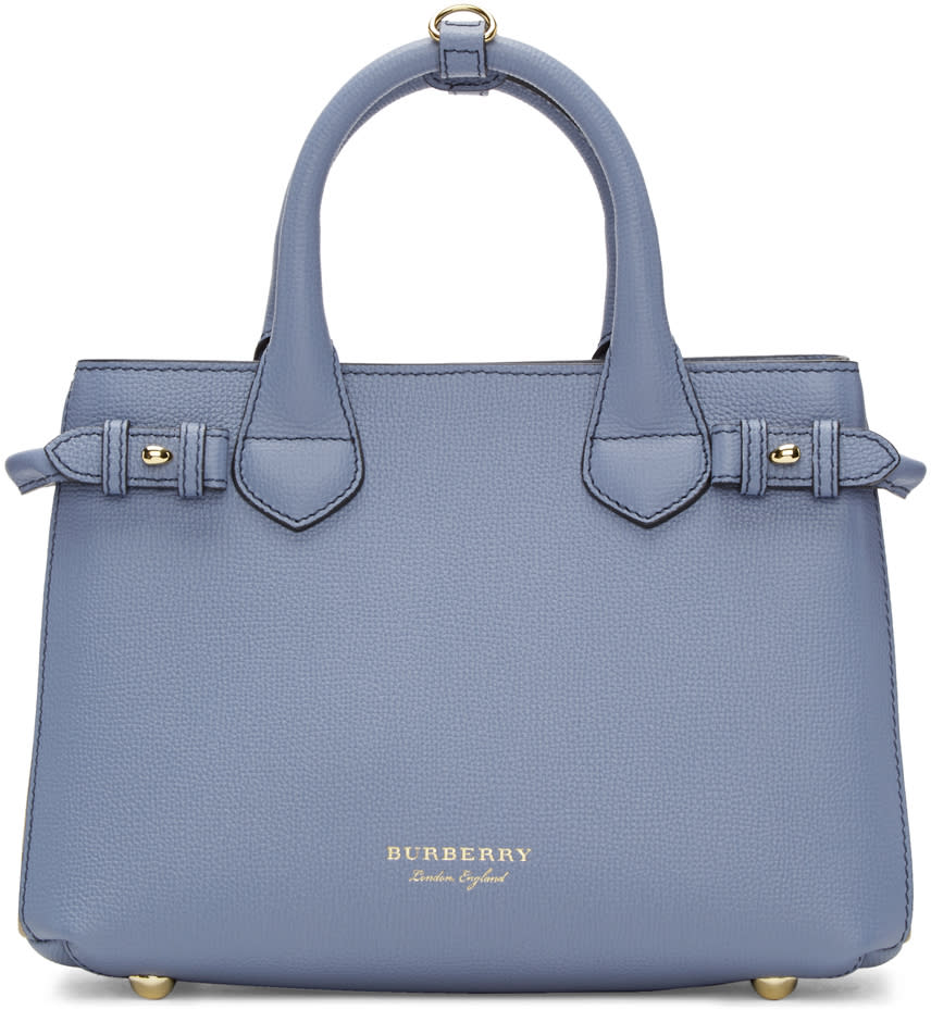 Burberry Blue Small Banner Tote