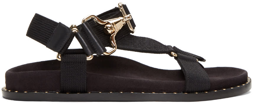 Image of Burberry Black Ardall Sandals