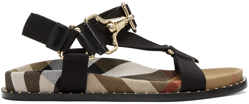 Burberry Black House Check Ardall Sandals