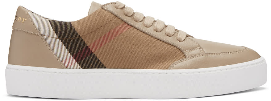 Burberry Taupe Salmond Sneakers
