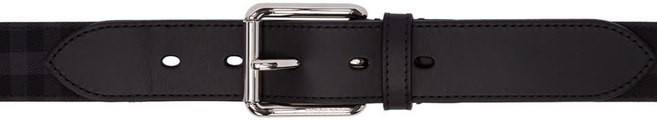 Burberry Black Mark Check Belt