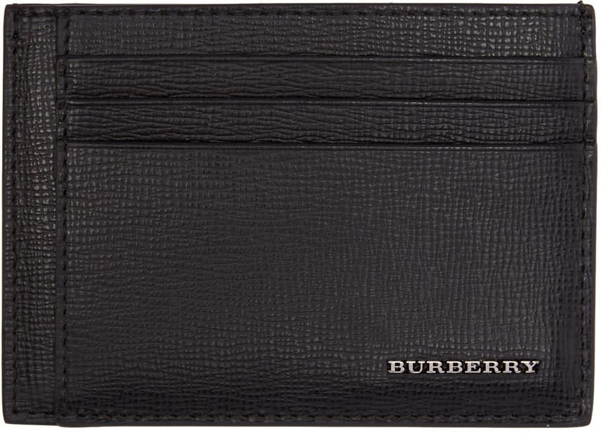 Image of Burberry Black Bernie Card Holder