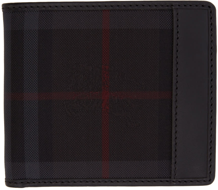 Burberry Black Horseferry Check Wallet