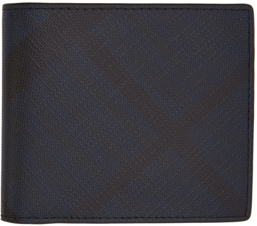 Burberry Navy Check Wallet
