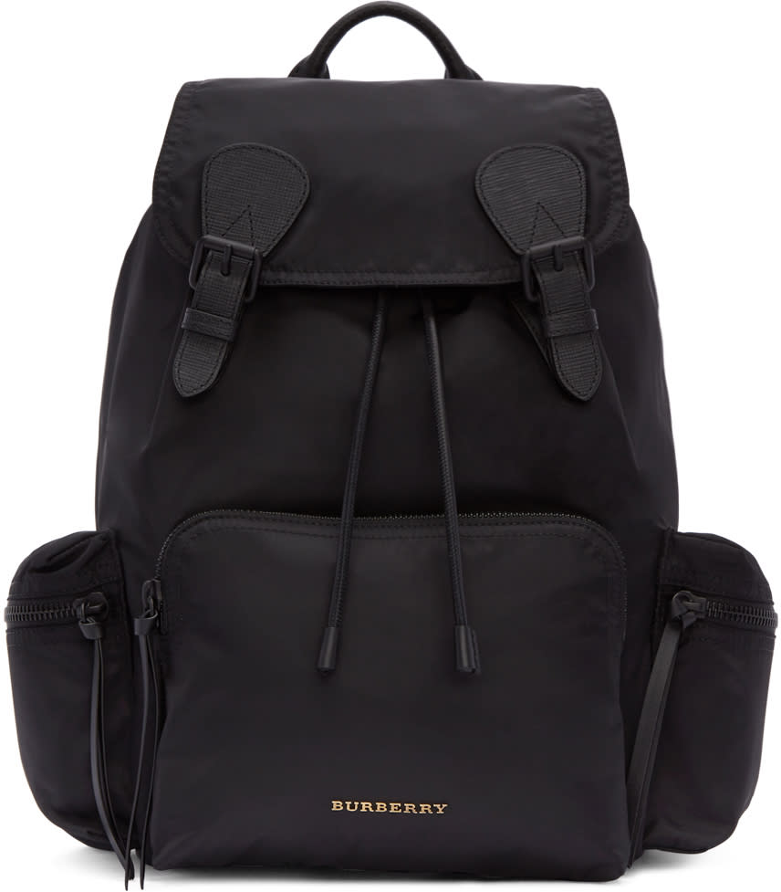 Burberry Black Nylon Backpack
